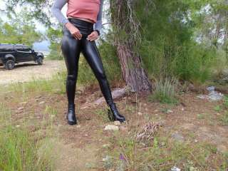 Latex Leggings, Stiefel OUTDOOR Teil 2